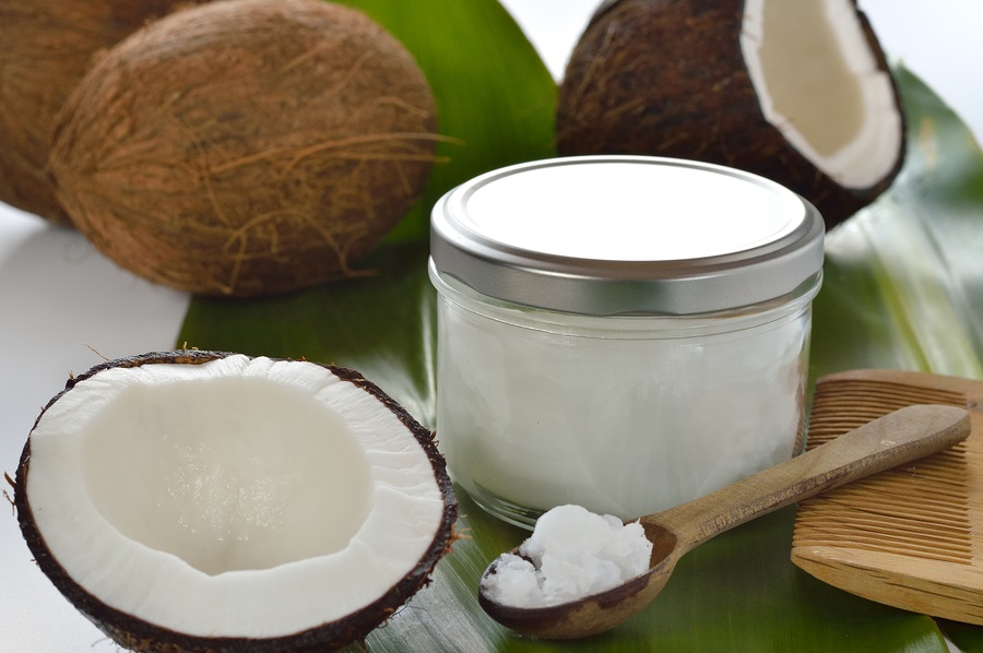 Click here to buy Organic Extra Virgin Coconut Oil by Nature's Way  which is a hair penetrating moisturizer