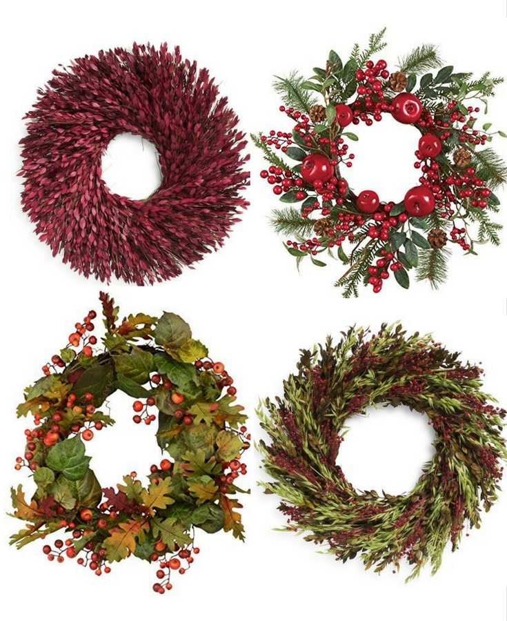 inexpensive fall wreaths