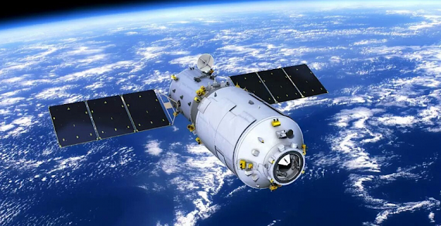 A rendering of the Tianzhou-1 cargo spacecraft. CMSA