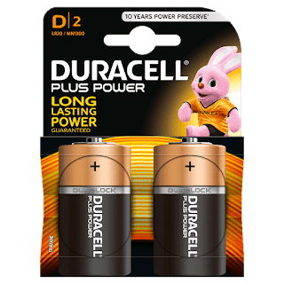 batterie duracell torcia d 2 plus power 2 pezzi