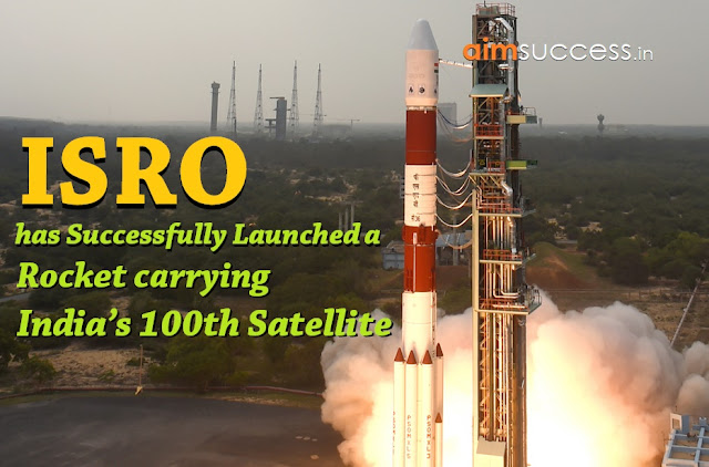 ISRO has successfully launched a rocket carrying India's 100th satellite