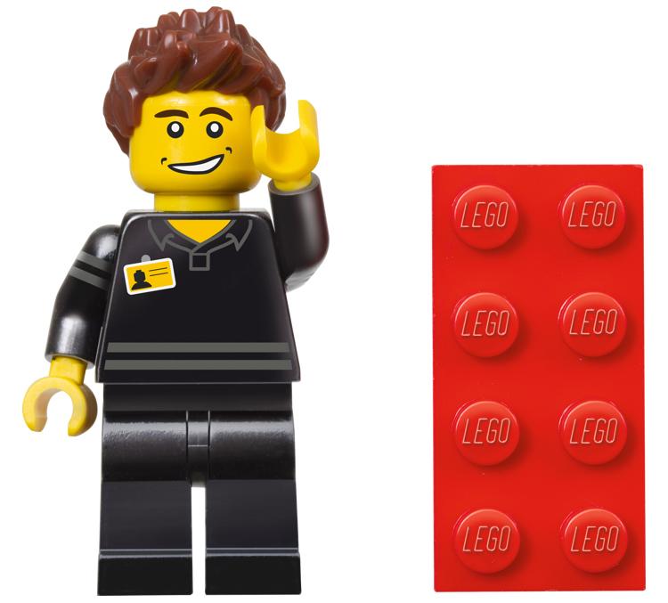 The Brickverse: Lego shop guy minifigure