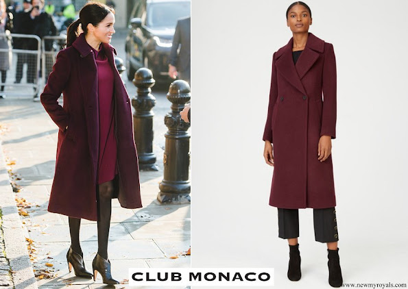 Meghan Markle wore Club Monaco burgundy Daylina coat