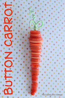 How to Make a Button Carrot from The Country Chic Cottage