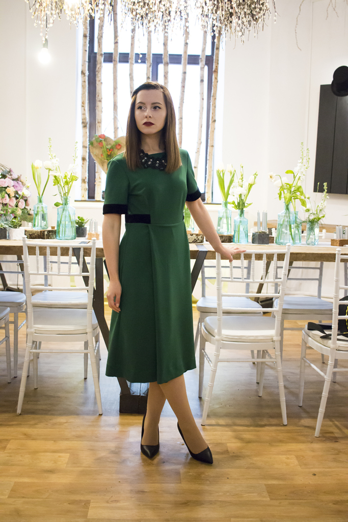 the green midi dress