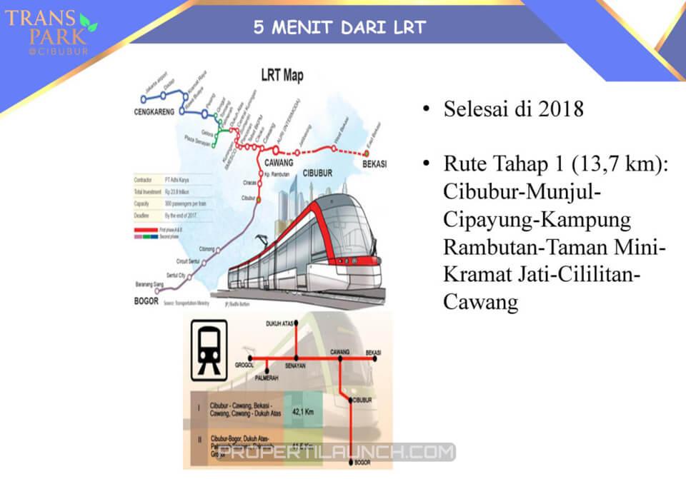 LRT Dekat Trans Park Cibubur