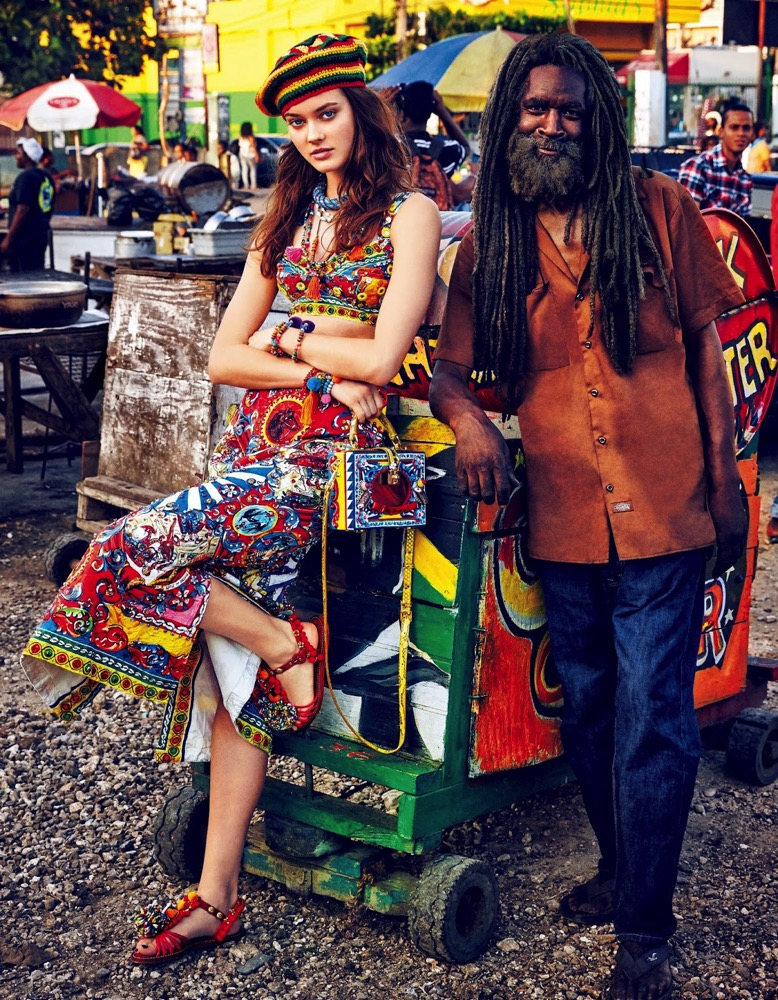 Jac Jagaciak in 'Jamaican Journey' for Vogue Japan July 2016