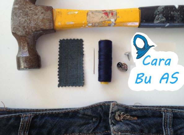 Cara Memperbaiki Kancing Celana Jeans Yang Rusak Carabuas