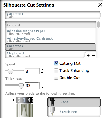 These Are The Cut Settings I Used With The  Lb Card Stock Used On This Project