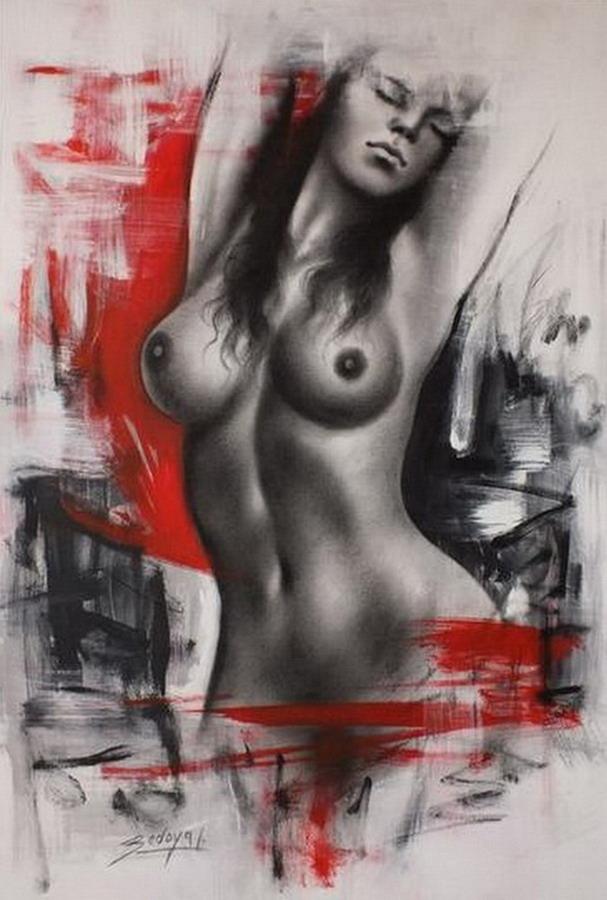 Javier Bedoya e suas pinturas de mulheres sensuais