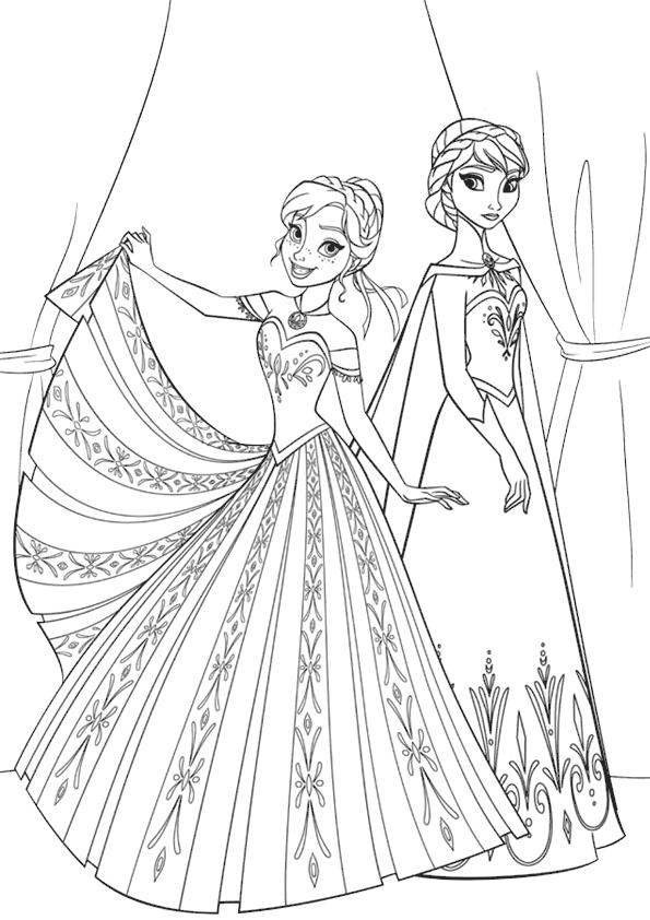 Elsa Y Anna Para Colorear Princesas Disney Tu Sitio by