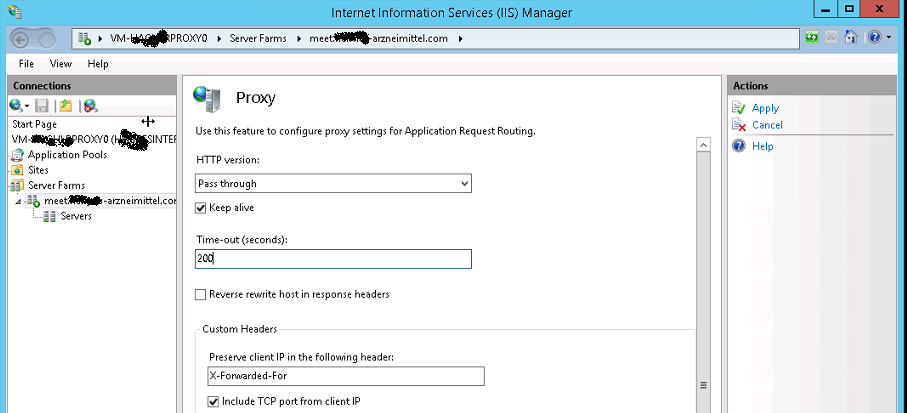 Lync 2013 Reverse Proxy Solution with IIS ARR (Application