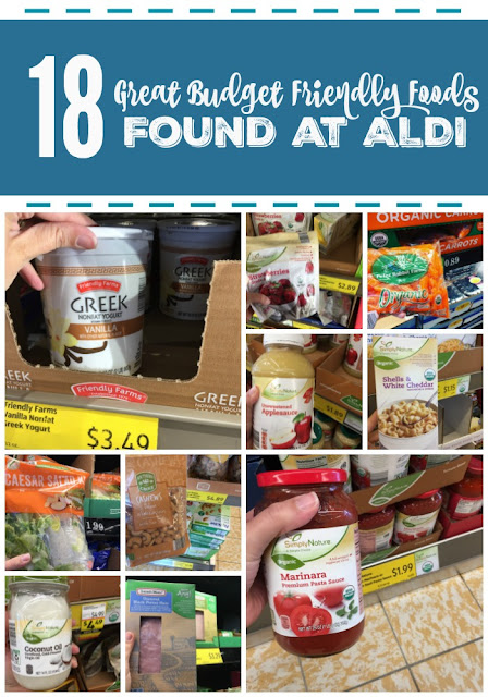 18 Great Budget Friendly Foods Found at ALDI...yogurt, spaghetti sauce, cashews, lunchmeat, coconut oil and more! (sweetandsavoryfood.com)