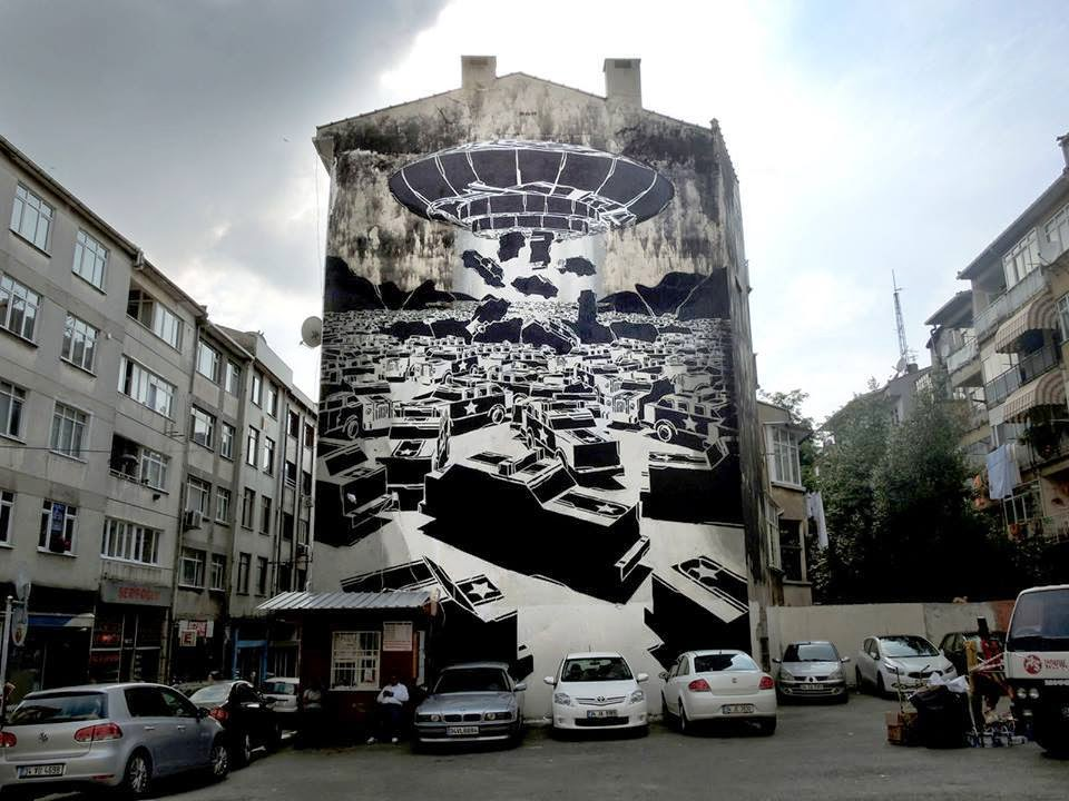 M-City is currently in Turkey where he just finished working on his first mural somewhere on the streets of Istanbul.