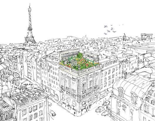 and then and then un jardin sur le toit. Black Bedroom Furniture Sets. Home Design Ideas