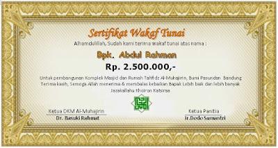 contoh-sertifikat-wakaf-masjid-almuhajirin bandung