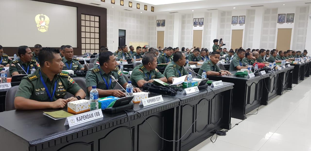Kapendam I/BB dan Para Kapenrem Jajaran Kodam I/BB Hadiri Rakernis Penad TA 2019