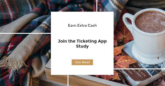 Join the Ticketing App Study  via  www.productreviewmom.com