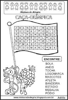 Jogos olímpicos e caça-palavras