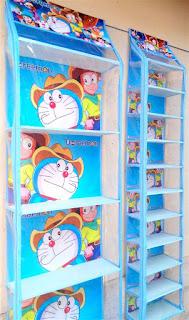 Rak Tas Rak Sepatu Doraemon