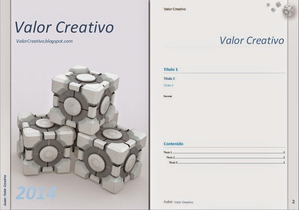 Valor Creativo: Plantillas Word 2003, 2007, 2010 y 2013