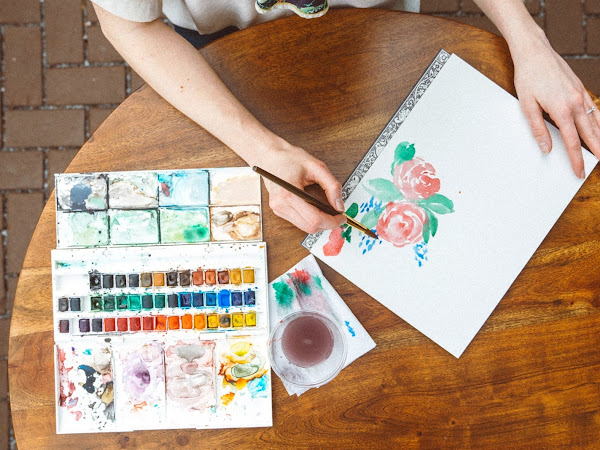 How to Paint Watercolor Flowers for Mother's Day Crafts