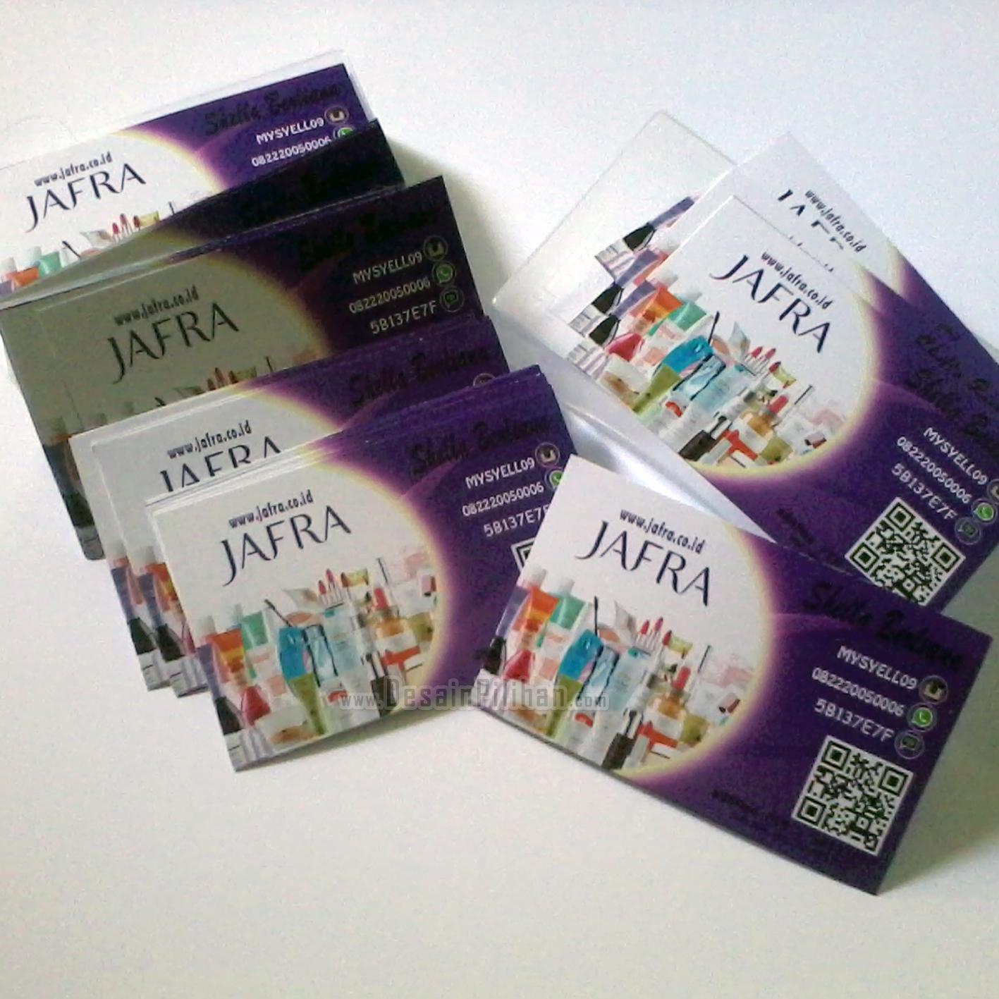 Kartu Nama Kartu Nama Jafra Cosmetics Desain Pilihan