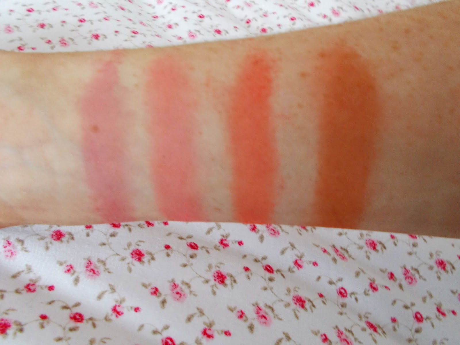Beauty Success Palette blusher swatches