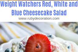 Weight Watchers Red, White and Blue Cheesecake Salad