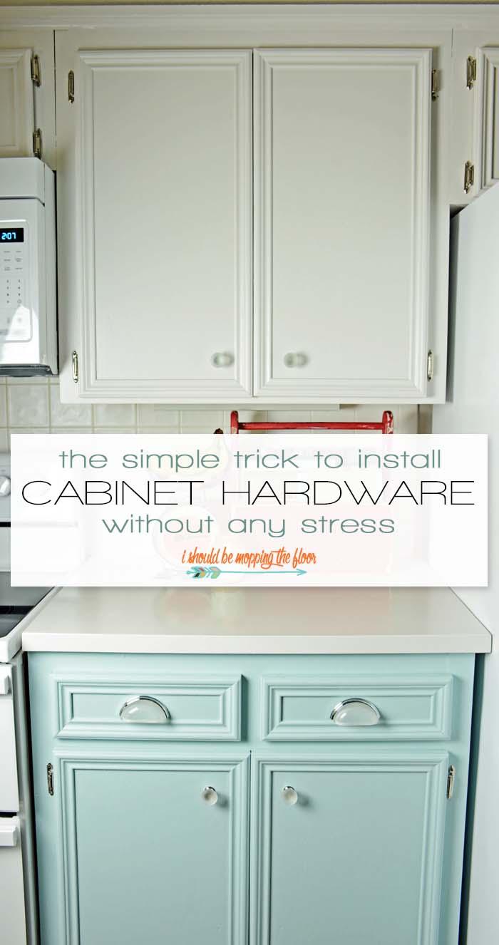 easy cabinet hardware installation trick install kitchen cabinets Easy Cabinet Hardware Installation Trick