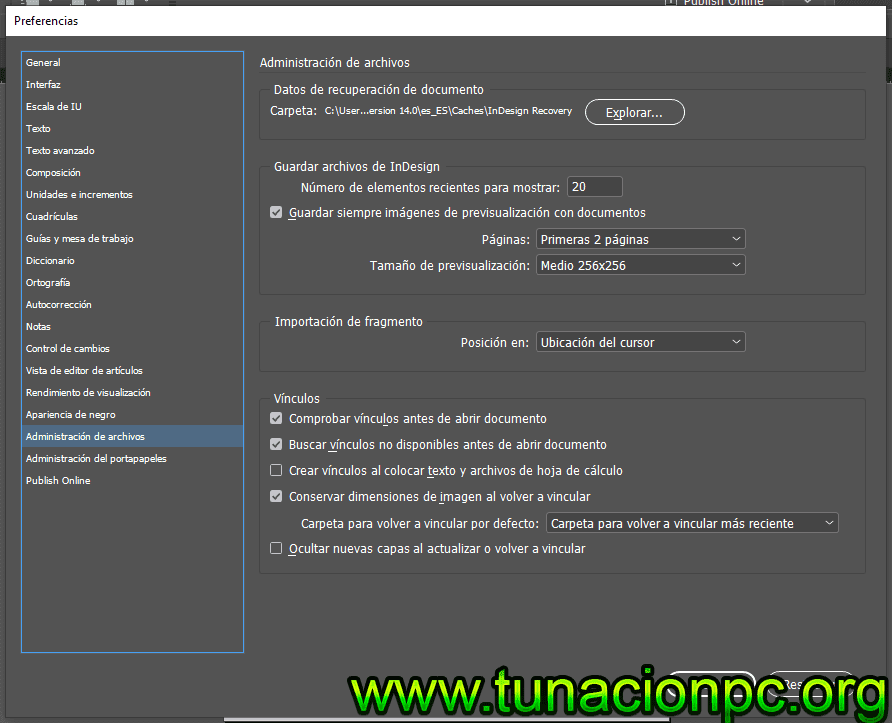 Adobe InDesign CC 2019 Full Español