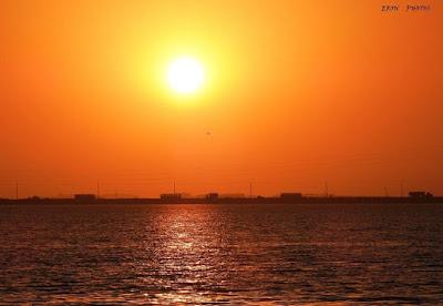 Sol Nascente no Saco Mangueira em Rio Grande