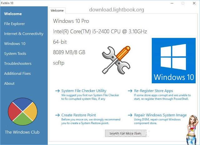 تحميل برنامج فيكس وين FixWin 10 لحل واصلاح مشاكل الكمبيوتر بنظام ويندوز 10 النسخة الاخيرة