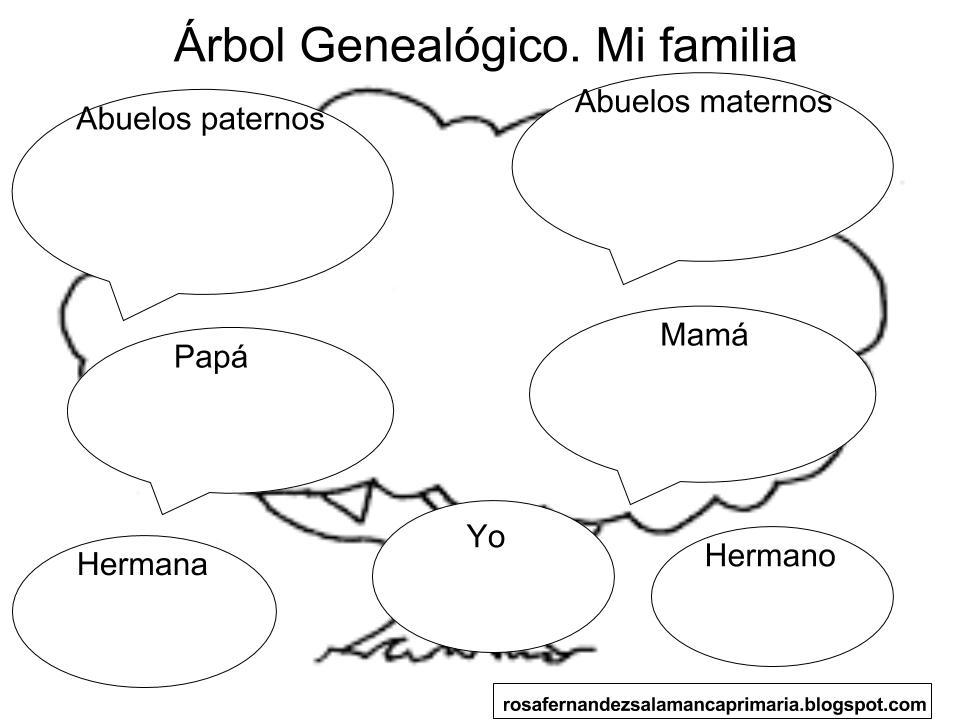 Maestra De Primaria árbol Genealógico Mi Familia Primero