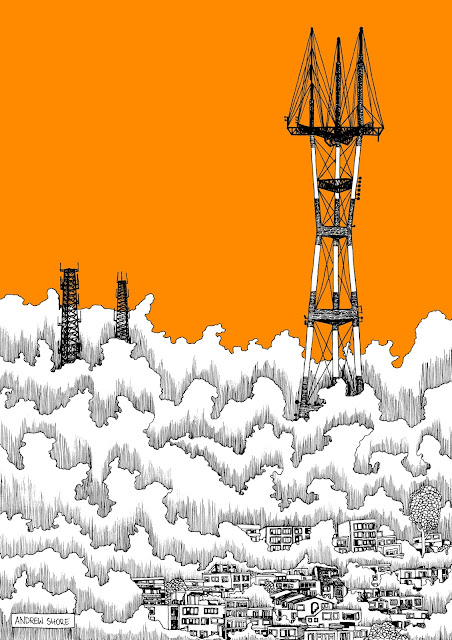 San Francisco illustration sutro tower