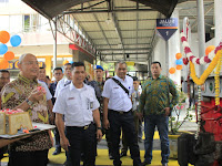 Ditandai Dengan Penaburan Bunga, Wali Kota Resmikan Peluncuran KA Sribilah Premium