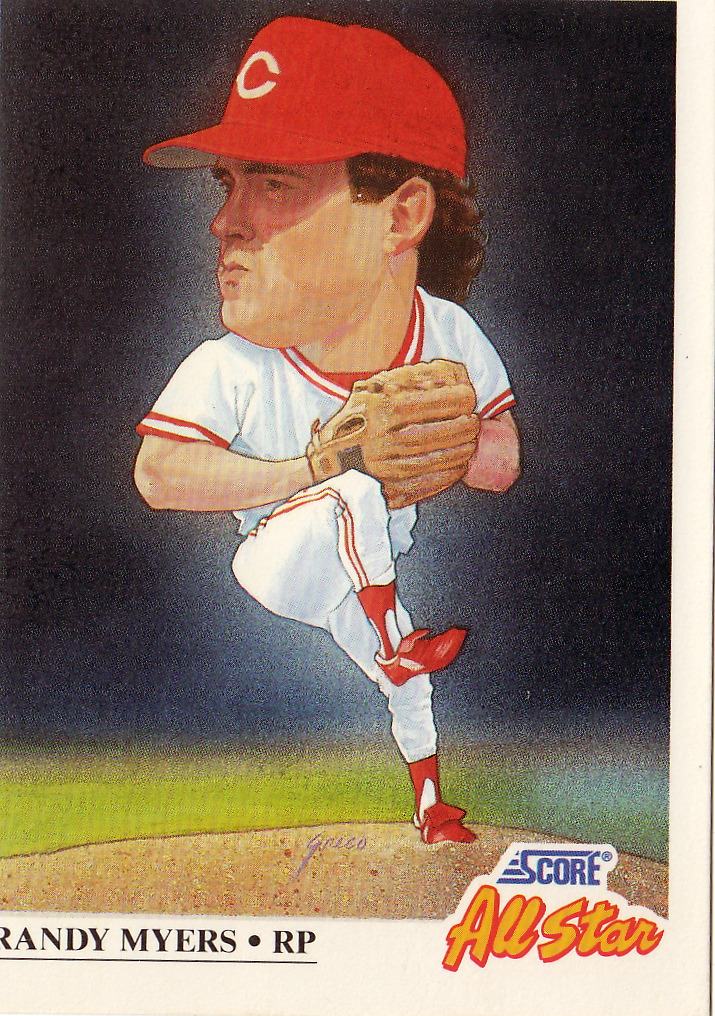 The Baseball Card Blog Big Head Myers Cartoonishly