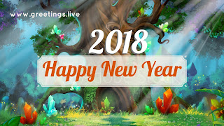 Fantasy  background New Year Picture Messages