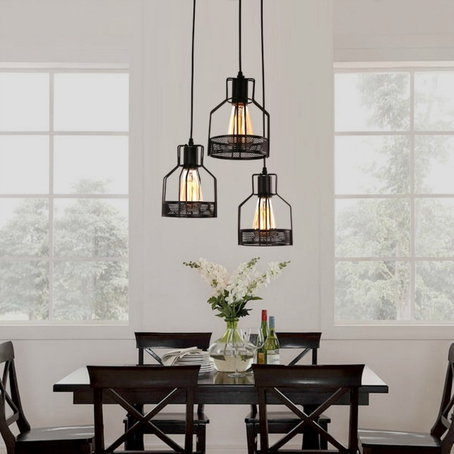 industrial dining room light fixture