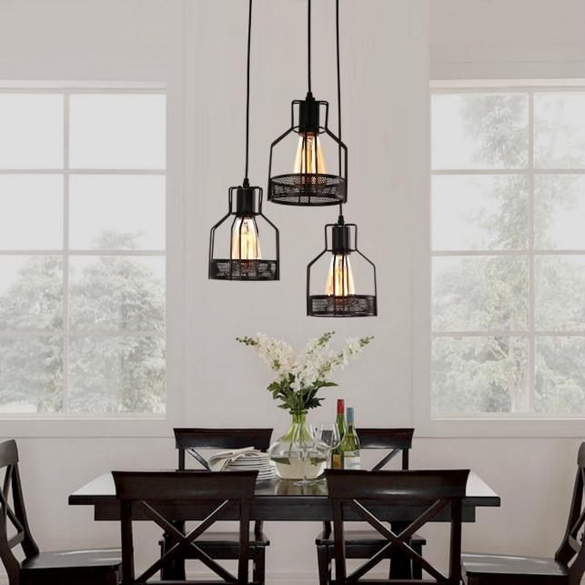 industrial dining room light fixture