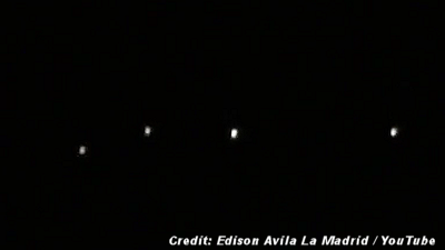 UFO Fleet Filmed Over Tarma- Peru 6-17-15