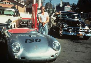 James Dean con su Porsche 550 Spyder