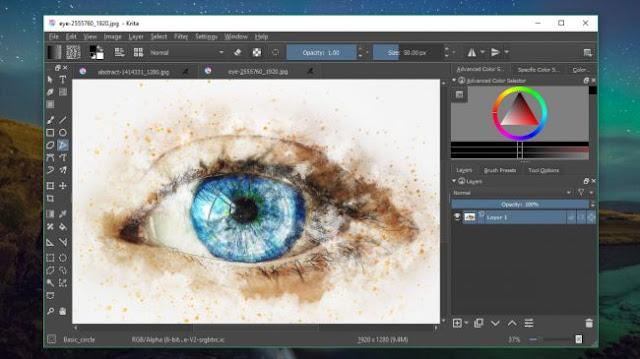 Aplikasi Desainer Grafis Gratis Terbaik untuk Windows 2018