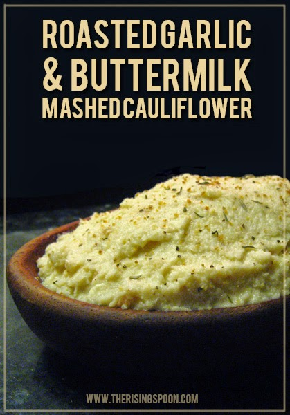 Garlicy Buttermilk Mashed Cauliflower