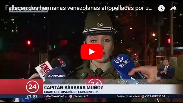 Dos niñas venezolanas murieron arrolladas por un autobús en Chile