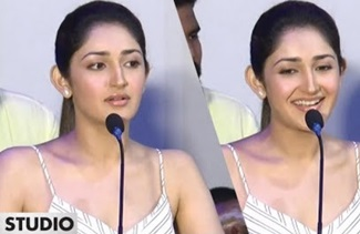 Sayesha Saigal Speech   Ghajinikanth Audio Launch   Arya   Santhosh P. Jayakumar