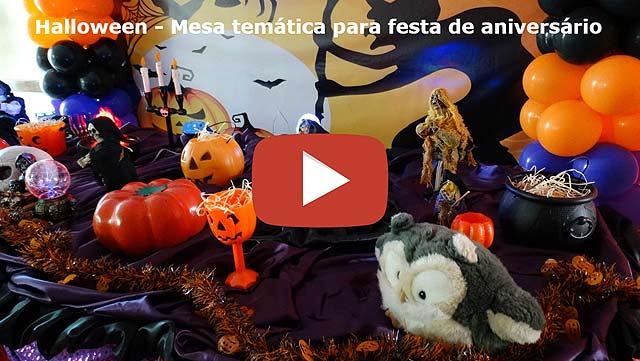 Vídeo: Decoração infantil Halloween tradicional luxo
