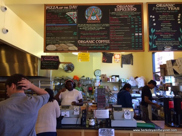 interior of Arizmendi Bakery and Pizzeria in Emeryville, California