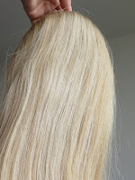 Aplique loiro de cabelo de 53 cm