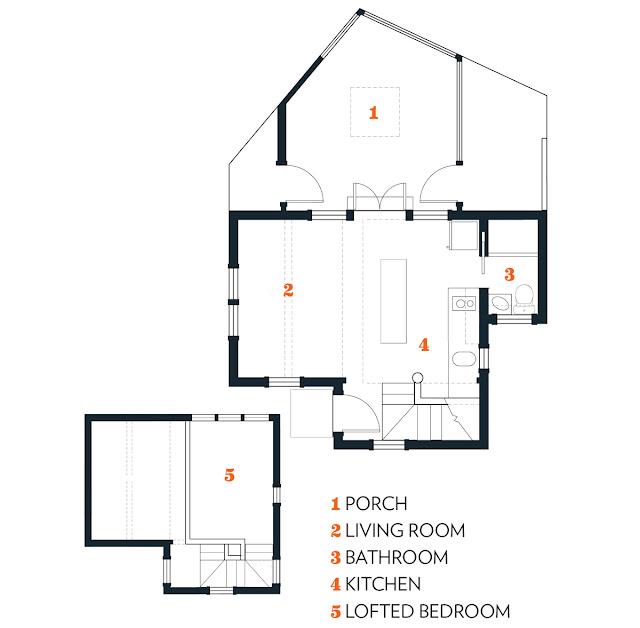 Cape Cod cottage floorplan